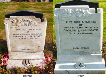 Before and After Memorial Restoration Images